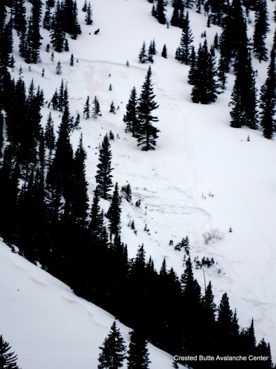 3/28. Near miss in Climax Chutes