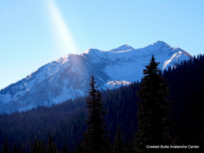 Northerly aspect of Gothic Mtn
