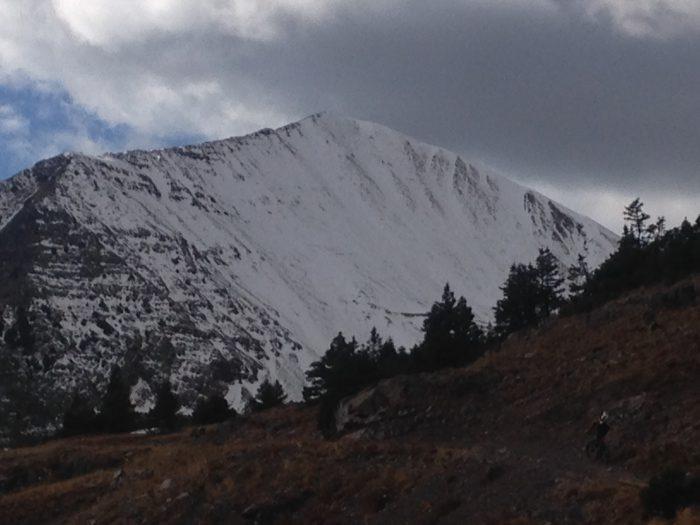 N face of Ruby Peak